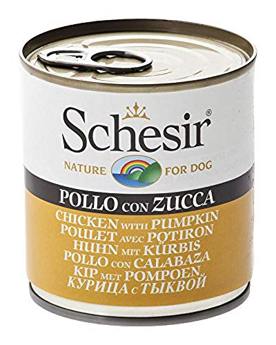 Schesir Dog Huhn mit Kürbis, Hundefutter nass, 16 Dosen x 285 g