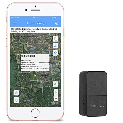 Osmewy Mini GPS Tracker for Kids for Vehicle Magnetic Car Tracking Device GPS Locator Personal Backpack GPS Real Time Positioning GT026X