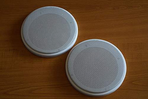 PG Audio 1 paire de caches de haut-parleur universels DIN-130 - Blanc