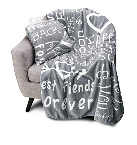BlankieGram I Love You Throw Blanket, Blanket with Love for Best Friends, Couples, and Family,...