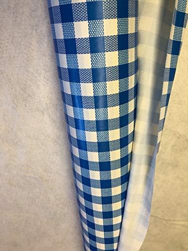 generique creadetex.com Au 20 metres Nappe Vinyle Carreaux Vichy Bleu Toile ciree Impermeable au Metre Largeur 140 cm