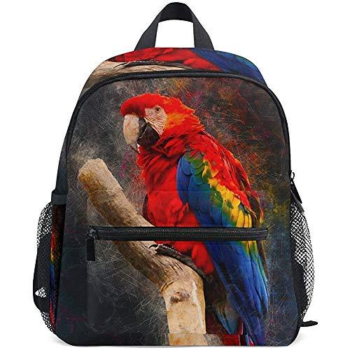 Reistassen,Animal Parrot Scarlet Macaw Vogel Polyester Volwassen Rugzakken voor Volwassenen Jongens Meisjes, 40cm(H) x29cm(W)