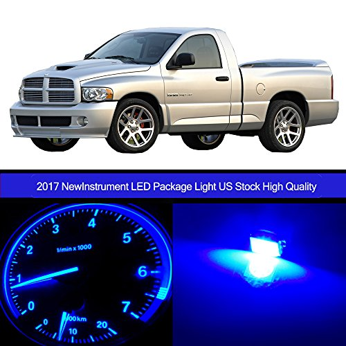 cciyu 30pack Blue Speedometer Instrument Gauge Cluster Light W/Twist Socket +HVAC Climate Control light Kits Replacement fit for 2002-2006 Dodge Ram 1500