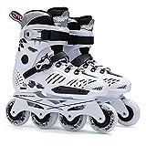 Patines en línea para mujer al aire libre, zapatos de patines profesionales para principiantes, patines en línea para niños y niñas unisex (color: blanco, tamaño: EU 37/US 5/UK 4/JP 23.5cm)