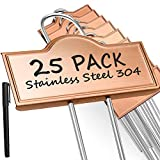 Metal Plant Labels Weatherproof 25 Pack, Outdoor Garden Markers Tags for Plants Vegetables Herb Seedlings Flowers with a Pen, Height 10.6 Inch, Label Area 3.7'' x 1.3''