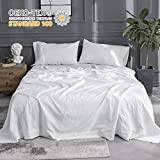 Simple&Opulence Belgian Linen Sheet Set Solid Color - King Size - 4 Pieces (1 Flat Sheet & 1 Fitted Sheet & 2...