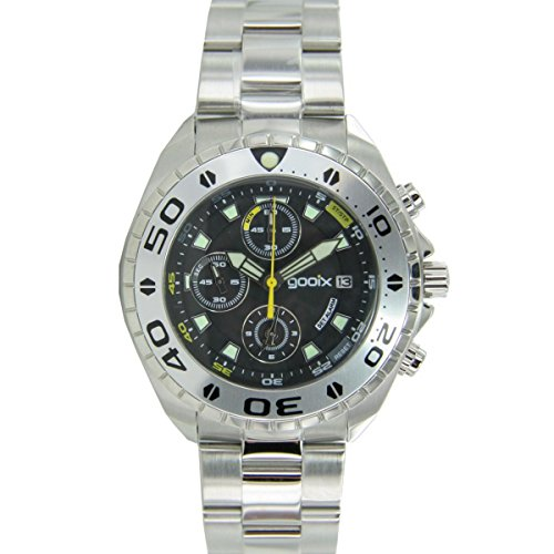 gooix Herren Uhr Armbanduhr Chrono Edelstahl Analog GX01102500