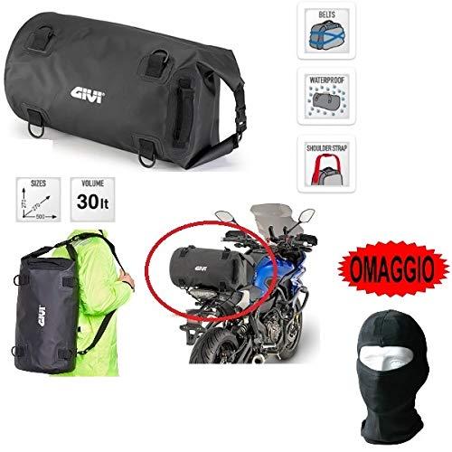 Compatible con Rieju Marathon Motard 125 Pro Bolsa mochila para sillín moto scooter Givi EA114BK 30 l impermeable universal 27 cm x 27 cm x 50 cm 2 correas para fijación