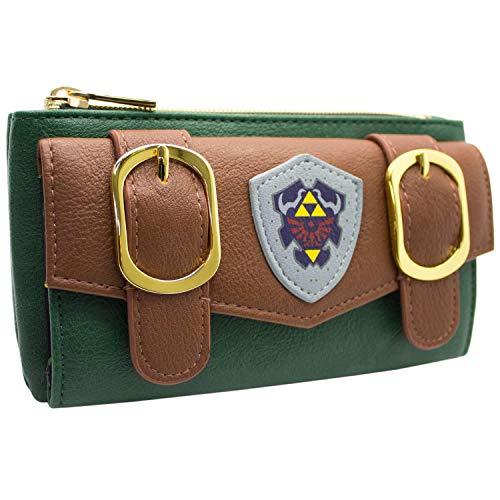 Hylian Shield Legend of Zelda Vestito Link Portafoglio Verde