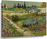 Dvbhd Posters para Pared Vincent Van Gogh Garden at Arles póster Pintura Arte Lienzo impresión de Pa...