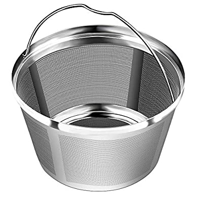8-12 Cup Reusable Basket Permanent Coffee Filters, Perfect Fit 8-12 Cup Hamilton Beach Cuisinart Basket-Style Coffee Maker Filters (Hamilton Beach)