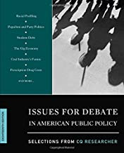 Issues for Debate in American Public Policy; Selections from CQ Researcher 18th