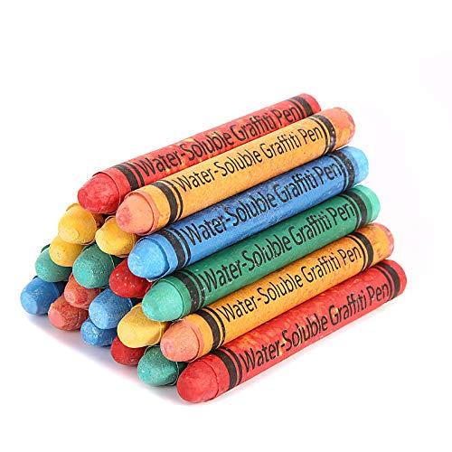 Colored Chalk for Kids Mini Chalk Sets Dustless No-Dirt 10 Colors 20 Pcs