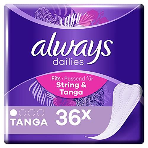 Always Dailies SlipBinden Damen Tanga (36 Binden) Für Ein Gefühl Von Frische, Passend Für String Und Tanga