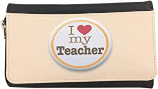 I love my teacher Printed Leather Case Wallet