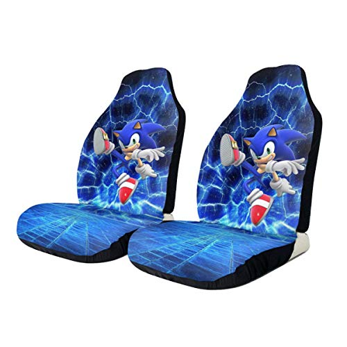 Sonic The Hedgehog Car Seat Covers Universal Automotive Seat Protector Fits for Most Car, SUV Sedan & Truck-2 Pcs
