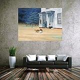 Kribee Póster decorativo de Edward Hopper, imagen de cuadros famosos (paisaje americano), lienzo decorativo para pared, para sala de estar, dormitorio, 50 x 75 cm, sin marco