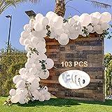 specool Luftballons Weiß Party Dekoration, 104 Stück