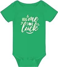 Rixin ST. Patrick's Day Green Bodysuits for Newborn Infant Boys Cotton Clothes,Shamrock Clover Leaf Irish