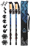 Alpine Summit Hiking Trekking Poles with Anti-Shock Tips, Best 2 Piece Adjustable Walking Survival Sticks for...