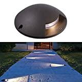 Faretto calpestabile pavimento LED segnapassi radente 1 finestra luce 12V IP65 4000K