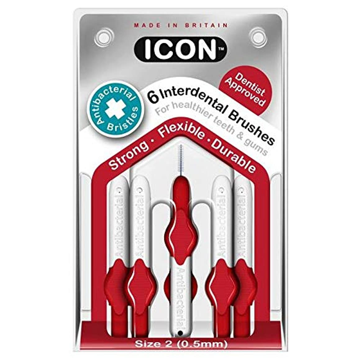 バンドみなさんありふれた[Icon ] アイコンの歯間には、パックあたり0.5ミリメートル6ブラシ - Icon Interdental Brushes 0.5mm 6 per pack [並行輸入品]