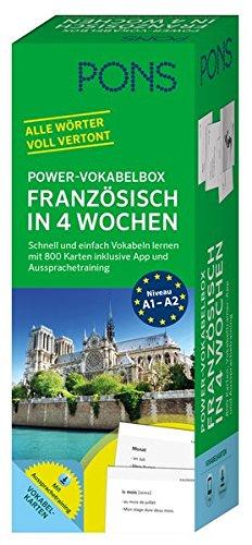 PONS Power-Vokabelbox Französisch - Schnell und einfach Vokabeln lernen mit 800 Karten inklusive App und Aussprachetraining