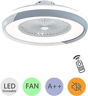 LXHK Luz del Ventilador con Lámpara y Control Remoto, Luces de Techo Modernas Regulables LED, 3 Tiempos 3 Velocidades Ventilador de Techo Lámpara Colgante para Sala de Estar, Dormitorio