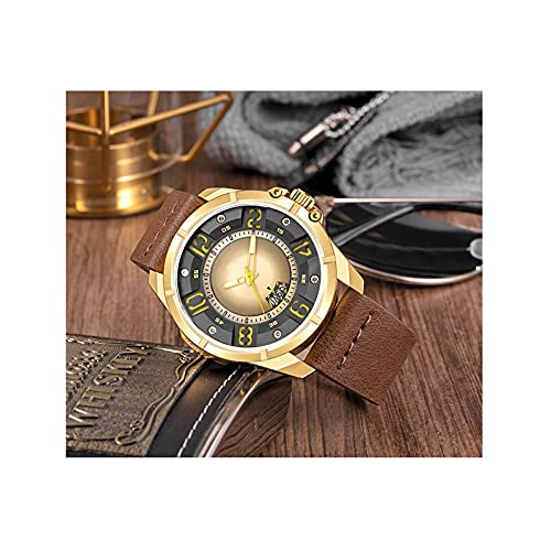 WNGJ para Hombre De Cuarzocon Correa En, Calendario Luminoso Impermeable para Hombres Y Mujeres Deportivo Relojes Reloj Familiar