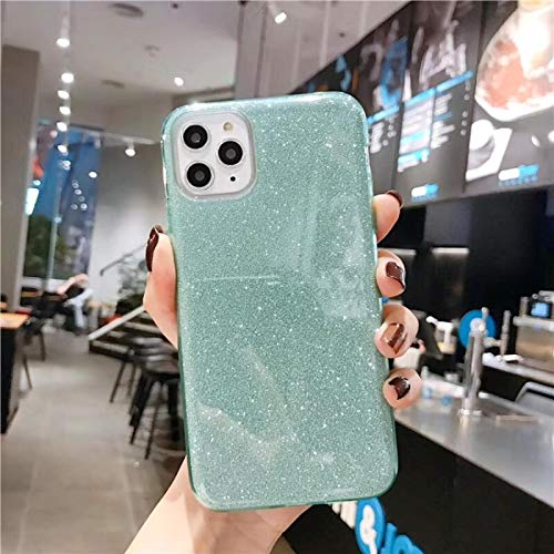 IPhone case FQSCX Solid Color Bling Glitter Phone Case For iPhone 12 Pro Max 12 Mini 11 Pro Max Gradient Shiny Soft TPU Silicone Back Cover ForiPhone11Pro 9