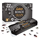 Gideal 22 Pack Cockroach Traps with Bait, Sticky Paper Premium Glue Trap   Eco-Friendly   Spiders Ants Roach Killer (22 Pack)