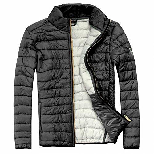 EXUMA Herren Sportbekleidung Aufgeblasen Jacke, Black, XL