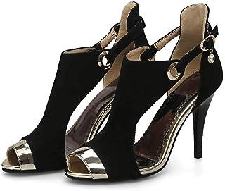 Fashion High Heel Sandals Women's Shoes,Black,35