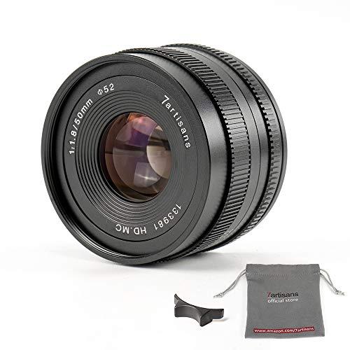 7artisans Lente de enfoque manual de 50 mm F1.8 APS-C para cámaras compactas sin espejo Canon M1 M2 M3 M5 M6 M10 EOS-M Montura negra