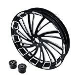 XFMT 23'x3.5' Windmill CNC Front Wheel Rim Dual Disc Wheel Hub For Harley Touring Road King Street Glide Electra Glide Non ABS Model 2008-2020