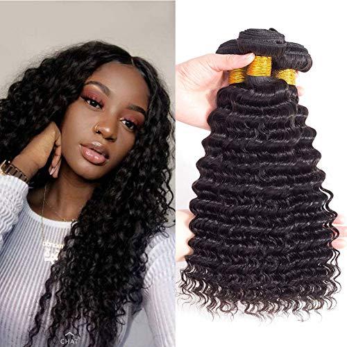 "Brazilian Virgin Hair Pineapple Deep Wave 3 Bundles 16"" 18"" 20"" 300g 10A Brazilian Deep Wave Human Hair Bundles 100% Unprocessed Virgin Remy Hair Bundles Natural Color"