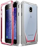 Galaxy J3 2018 Rugged Case, Poetic Guardian Heavy Duty Case with [Built-in-Screen Protector] for Samsung Galaxy J3 2018/J3 Star/J3 Orbit/J3 V 3rd Gen/J3 Achieve/Express Prime 3/Amp Prime 3 - Pink