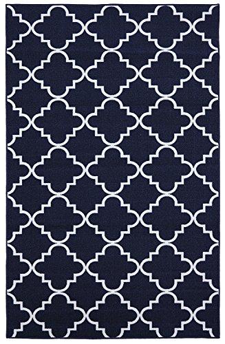Mohawk Home Soho Fancy Trellis Geometric Lattice Printed Area Rug, 4x6, Navy