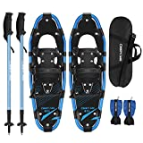 Carryown 4-in-1 Xtreme Lightweight Terrain Snowshoes for Adults Men...