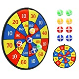 Kids Toys Dart Board Games - Dartboard Sports Games for kids with 8 Sticky Balls, Safe & Classice Set With Hook, Indoor Outdoor Best Toys Gifts for Girls Boys Ages 3-Year-Old and Up, 13.8 Inches
