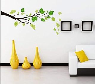 StickieArt - ملصق حائط على شكل فرع أوراق خضراء - متوسط - 50 × 70 سم - STA-125