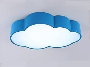 FANDBO@ Creativo LED Nube Lámpara de techo para niños niñas Dormitorio Habitación de niños jardín de infantes (52 * 32 * 10 cm, hierro + acrílico, luz blanca, 24W) ( Color : Azul )