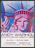 ポスター アンディ ウォーホル 10 Statues of Liberty 1986 額装品 アルミ製ハイグレードフレーム(ブラック)