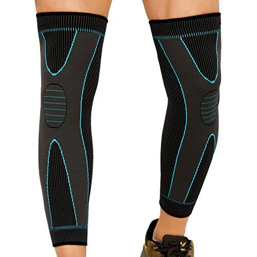 CosySun 2 confezioni XL di ginocchiere a compressione per uomo e donna, per corsa, basket, ciclismo, sollevamento pesi, sollievo dal dolore articolare, per menisco, taglia XL