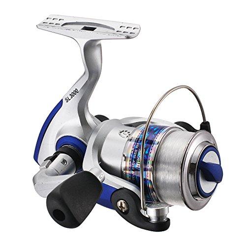NIUNIUTU Spinning Wheel Strong Metal Bearings Drum Fishing Reel Fishing Tool for Boat Ocean Fishing Type 4500 (with line 6)