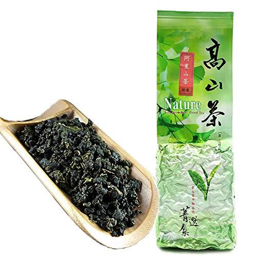 FullChea - Natural Alishan Oolong Tea Loose Leaf - Formosa Oolong High Mountain Tea - Taiwan Gaoshan Ulong Tea - Taiwanese Oolong Tea for Weight Loss (8.8oz / 250g)
