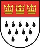 U24 Aufkleber Köln Wappen Autoaufkleber Sticker Konturschnitt