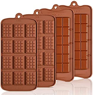 Macklon® Break Apart Chocolate Molds - Candy Protein and Energy Bar Silicone Mold DIY Tray Mould Silicone Party Maker (Pac...
