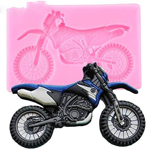 DACCU 3D Yamaha Motorrad Silikonformen Baby Geburtstag Fondant Kuchen Dekorieren Tools DIY Back Candy Ton Schokolade Gumpaste Formen