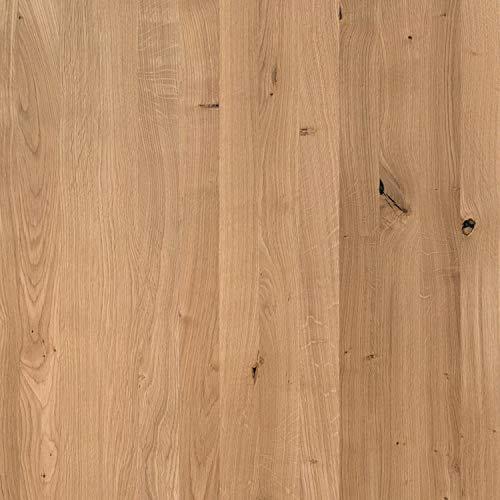 boho office® Massivholz, Tischplatte Schreibtischplatte 160 x 80 x 2.5 cm in Eiche Massiv mit durchgehenden Lamellen - 3